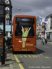 Back end of a bus 19.05.2016 (CNThings) Tags: bus sussex mercedes benz brighton hove panasonic wright 805 chrisneal churchillsquare streetdeck brightonbus tz60 panasonictz60 cnthings sk16gwg