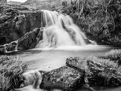 From Ice to Water (DanielSan_05) Tags: bw water 35mm river blackwhite spring spain rocks guadalajara falls flowing pueblos flows valverde
