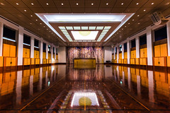 Inside the Great Hall (WhiteWith0ne) Tags: reflection architecture hall au australia symmetry government canberra capitalhill act parliamenthouse australiancapitalterritory thegreathall timberflooring parliamentofaustralia canonef1635mmf4lisusm canoneos6d whitewithonenet