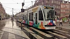 Allemaal Nat (Peter ( phonepics only) Eijkman) Tags: city holland netherlands amsterdam transport nederland tram rail rails trams strassenbahn noordholland gvb tramtracks streetcars combino nederlandse