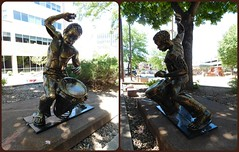 ECHO by Osamede Obazee (Visual Images1) Tags: sculpture collage diptych siouxfalls osamedeobazee picmonkey