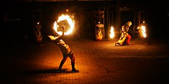 Fire Dance (chandlerbong) Tags: nightphotography blur beautiful fire dance culture system mindanao lowlightphotography mirrorless sonynex6 sel3518
