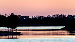 Fishing in the Pink Zone (NathalieSt) Tags: water sunrise fisherman eau fisher pcheur leverdesoleil pcheurs