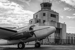 A bit of 1940's! (RaulCano82) Tags: old tower classic atc canon vintage airplane texas tx aviation 1940 houston historic lockheed prop propellor lodestar hou htown 70d htx khou avgeek