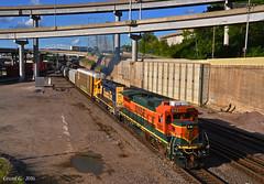 "Southbound Transfer in Kansas City, MO (""Righteous"" Grant G.) Tags: city railroad west train power railway trains missouri kansas locomotive transfer ge bnsf westbound"