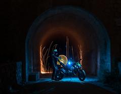 LightMotos_3 (Suso Sinmiedo) Tags: blue lightpainting verde green azul alicante motorbike moto tunel agost pilito vaverdedelmaigm