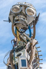 WEEE Man (Jon Sharp) Tags: flowers sculpture project cornwall eden waste recycle the