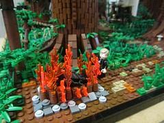 Ewokdorf - Luke und Vader (KW_Vauban) Tags: starwars lego endor ewokvillage episodevi thereturnofthejedi