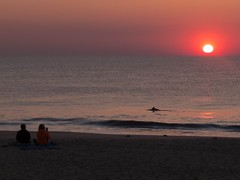 Sunrise dolphin watching (Thiophene_Guy) Tags: ocean morning beach sunrise dawn fuji dolphin rehoboth originalworks xs1 thiopheneguy shootthesun fujifilmxs1