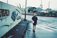 () Tags: film adox colorimplosion 100 minolta himatic af nanfangao  girl woman bridge road roadside