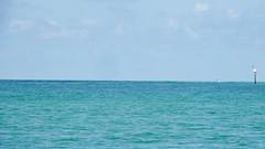 Peace & Quiet (soniaadammurray - SLOWLY TRYING TO CATCH UP) Tags: blue sea sky signs seascape bird nature aqua quiet colours peace calm digitalphotography tonelesstuesdays