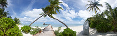Panorama tropical island (Stan de Haas Photography) Tags: ocean travel blue sea summer vacation sky cloud sun sunlight holiday plant seascape storm hot tree tourism beach nature water beautiful rain relax landscape thailand island hawaii bay coast sand scenery paradise coconut outdoor background wave sunny nobody lagoon calm palm resort shore tropical tropic coastline caribbean srilanka maldives tranquil standehaas