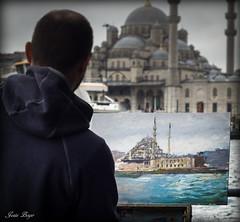 L`artiste au travail (josboyer) Tags: turkey istanbul turquie mosque