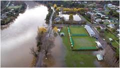 Esplanade Flooding - New Norfolk (Trains In Tasmania) Tags: water river flooding view flood derwentvalley australia aerial vista tasmania murky drone derwentriver riverderwent dji newnorfolk trainsintasmania stevebromley djiphantom3standard phantom3standard