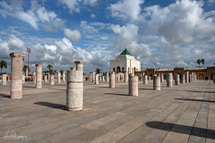 Mausoleum of Mohamed V, Rabat, Morocco (Abhi_arch2001) Tags: architecture clouds court columns courtyard v morocco mausoleum rows pillars moroccan mohamed islamic colonnade rabat