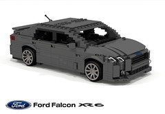 Ford Australia FG X Falcon XR6 (2014 - 2016) (lego911) Tags: ford falcon fgx fg x 2014 2015 2016 2010s australia broadmeadows geelong aussie six xr6 turbo auto car moc model miniland lego lego911 ldd render cad povray final foitsop