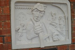 Jarge the outside porter (Matt From London) Tags: station train mural relief isleofwight porter shanklin islandline jarge