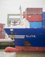 Elite (G. Warrink) Tags: boat rotterdam ship harbour transport cargo