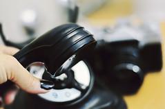 hello... (eggii) Tags: hello old darkroom work phone fingers job oldcamera