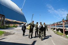 64. Workers at the New Safe Confinement (NSC) - Chernobyl Nuclear Power Plant ([ Jaso ]) Tags: new workers nikon energy accident military radiation nuclear ukraine cover sarcophagus d750 shield nikkor chernobyl safeconfinement
