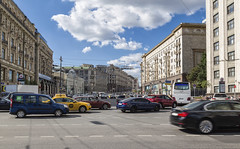 Traffic in Moscow (designteambrussel) Tags: auto road street city travel summer sky urban cloud building car architecture drive town smog automobile europe day traffic russia many moscow main crowd transport wide center historic route busy pollution rush hour transportation vehicle rushhour hurry noise jam avenue russian heavy crowded tverskaya bustling