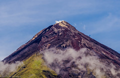 Mayon Volcanic Formations, Philippines (ravi_pardesi) Tags: mountain nature beautiful wonder landscape volcano lava amazing earth philippines bluesky crater ash serene mayon drama formations