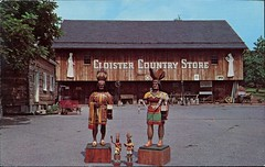 Cloister Country Store, Ephrata, Pennsylvania (SwellMap) Tags: architecture vintage advertising design pc 60s fifties postcard suburbia style kitsch retro nostalgia chrome americana 50s roadside googie populuxe sixties babyboomer consumer coldwar midcentury spaceage atomicage