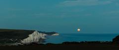 Moonrise (Adeypoos) Tags: sea sky moon sussex coast background moonrise moonlight coastline seafront englishchannel cuckmerehaven sussexcoast canoneos6d adrianpollardphotography