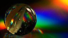 Magic marble (Parchman Kid (Jerry)) Tags: light music abstract macro glass colors rain rainbow soft weekend cd sony tubes days rainy extension marble a6000 parchmankid