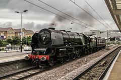 46233 - 5Z33 - Peterborough - 23.06.2016(2) (Tom Watson 70013) Tags: 46233 duchess sutherland peterborough 5z33 mnr steam train light engine platform 6 class 6233
