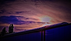 game of heaven (Sebastian Schmeinck) Tags: sky sun sunset clouds himmel spiel game color colored abstract art view perspective red purple tree shadow schatten dark darkness vignette blue light highlight outdoor