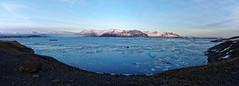 Jokulsarlon (Schmouel) Tags: blue sky panorama snow mountains ice clouds landscape iceland lagoon panoramic iceberg jokulsarlon icefield