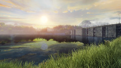 VOEC - 048 (Screenshotgraphy) Tags: sunset sky mountain lake game nature colors architecture clouds contrast montagne landscape pc screenshot lumire couleurs country lac ethan steam gaming ciel beaut carter concept nuages paysage vanishing campagne beautifull jeu naturelle urbain
