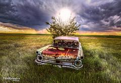 Sun Hat (Pat Kavanagh) Tags: panorama canada abandoned landscapes alberta prairie prairies hdr taber