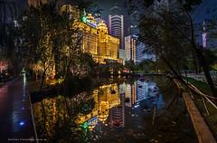 Guangzhou, Zhujiang Park (Antoni Figueras) Tags: guangzhou china longexposure night reflections canton blending agriculturalbankofchina zhujiangpark sonya77ii
