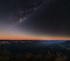 Blue Mountains and Milky Way (Orange Orb Photography) Tags: night stars landscape exterior au australia bluemountains lookout astrophotography newsouthwales leura milkyway sublimepoint leaura