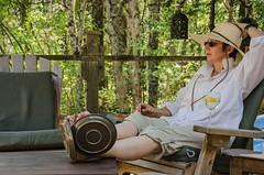 Post Gardening Libation (treehuggerdcg) Tags: relax nikon deckchair plates laidback selfie putyourfeetup platesofmeat tmsh d7000 513sh12 1014sh2