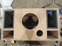 "1/2"" Sonic Barrier put in speaker enclosures (burritobrian) Tags: diy speaker boombox overnightsensations speakerbuild sd215a88"