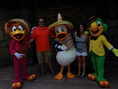 (MattCC716) Tags: epcot disney disneyworld donaldduck panchito josecarioca lostrescaballeros thethreecaballeros uploaded:by=flickrmobile flickriosapp:filter=nofilter