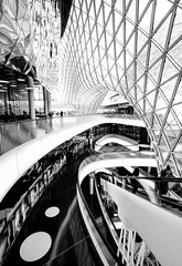 abstract curves (mainone) Tags: people bw abstract reflection art glass architecture mall shopping germany deutschland photography photo blackwhite frankfurt main curves escalator shoppingmall frankfurtammain zeil ffm massimilianofuksas mainone myzeil christiangehrig