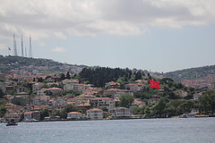 Huge Turkish Flag (anja63) Tags: turkey istanbul turkishflag bosphorus turchia bosforo bandieraturca