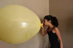 Giant Balloon (Nikhita B) Tags: yellow giant cool balloon perspective forced