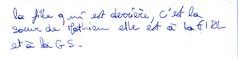 Petit Mot Universitaire (hyakoukoune) Tags: paris france word french message little universit papier gs franais 1990 fac soeur criture petit mot facult crit fidl commrage commre