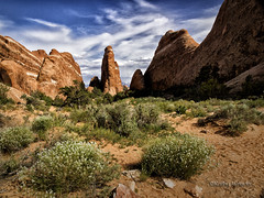 Arches Monolith (kweaver2) Tags: sky nature clouds landscape photography utah nationalpark arches monolith fineartphotography naturephotography kathyweaver