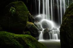 Falls and moss (VernsPics) Tags: longexposure blue green rock wales waterfall moss long exposure escape south sydney australia falls mayhem weeping leura mountainsnew leurawaterfall2013bluemountains