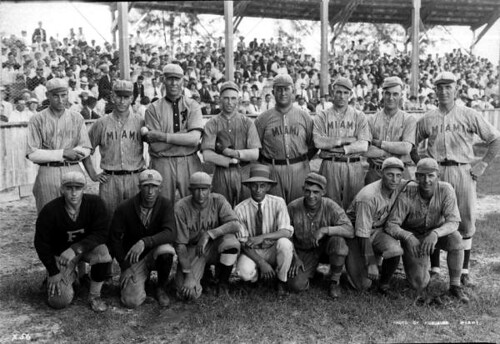 Group portrait of a Miami baseball team