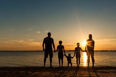 Family (EspressoTime) Tags: ocean family sunset summer portrait sun water silhouette kids canon goldenhour sunstar espressotime nathanharrison 5dmkll