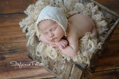 Baby G (njmommyof3boys) Tags: wood baby girl hat natural tan fluff newborn crate bonnet neutral