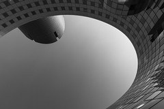 Wishing well (fidgi) Tags: bw paris architecture canon nb ladéfense canoneos7d placedelellipse
