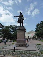 saintpetersburg_205 (OurTravelPics.com) Tags: saint statue museum square state petersburg front alexander russian pushkin iskusstv